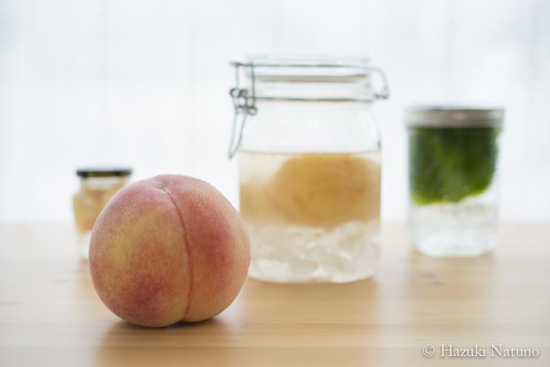 桃と、果実酒のはなし。